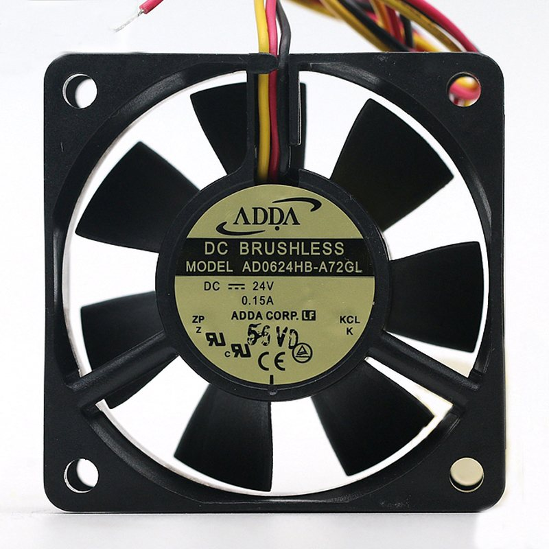 ADDA AD0624HB-A72GL 24V 0.15A 6CM 3-lines inverter server cooling fan