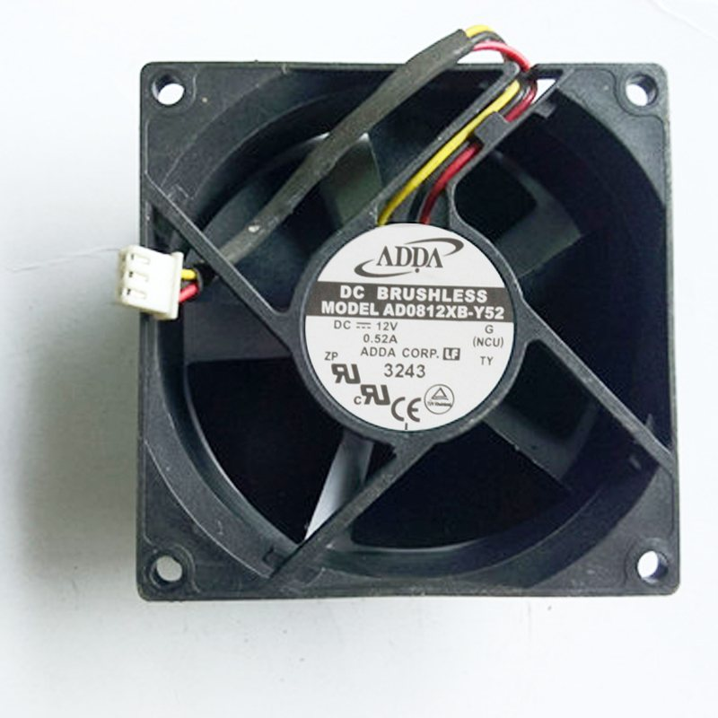 ADDA AD0812XB-Y52 DC12V 0.52A  8mm cooling fan