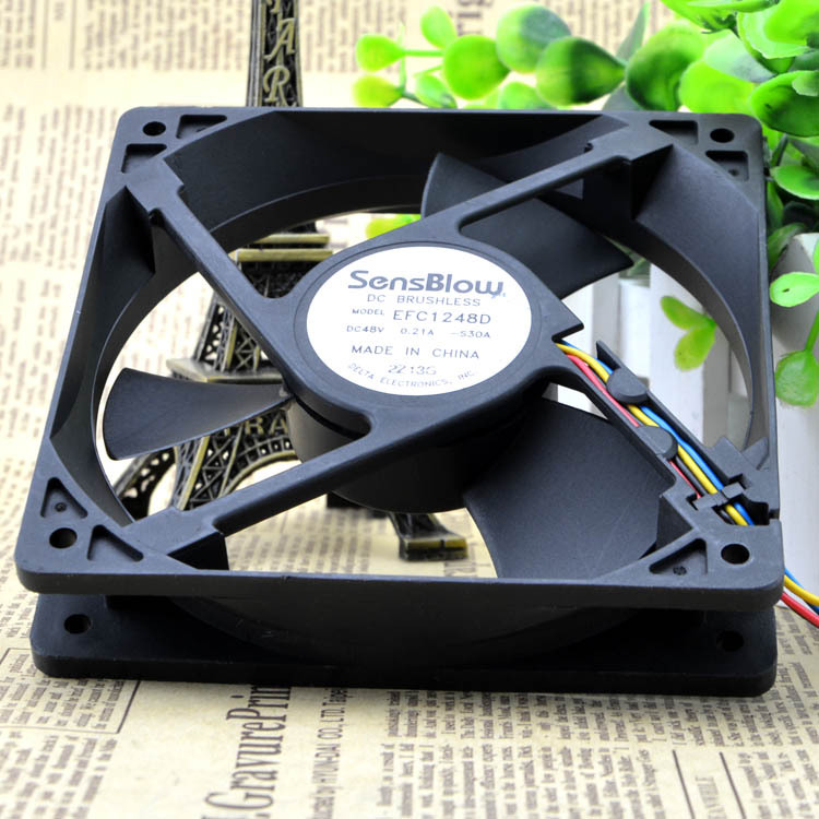Delta EFC1248D-S30A 48V 0.21A 4wire PWM fan  Huawei switches