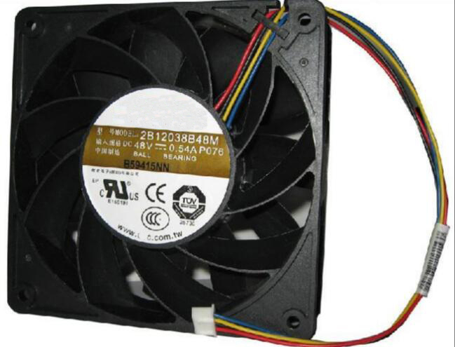 AVC 2B138B48M P076 DC 48V 0.54A computer Cooling Fans Server Square Fan