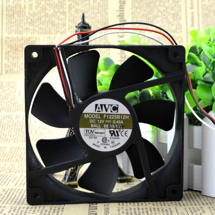 AVC F1225B12H 12V 0.45A 12cm 125 Double Ball Cooling fan