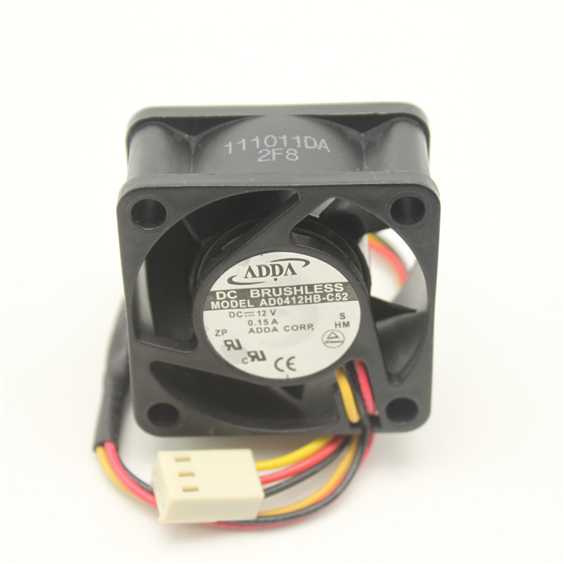 Adda AD0412HB-C52 DC12V 0.15A Inverter Server Double Ball  3-Wires Cooling fan
