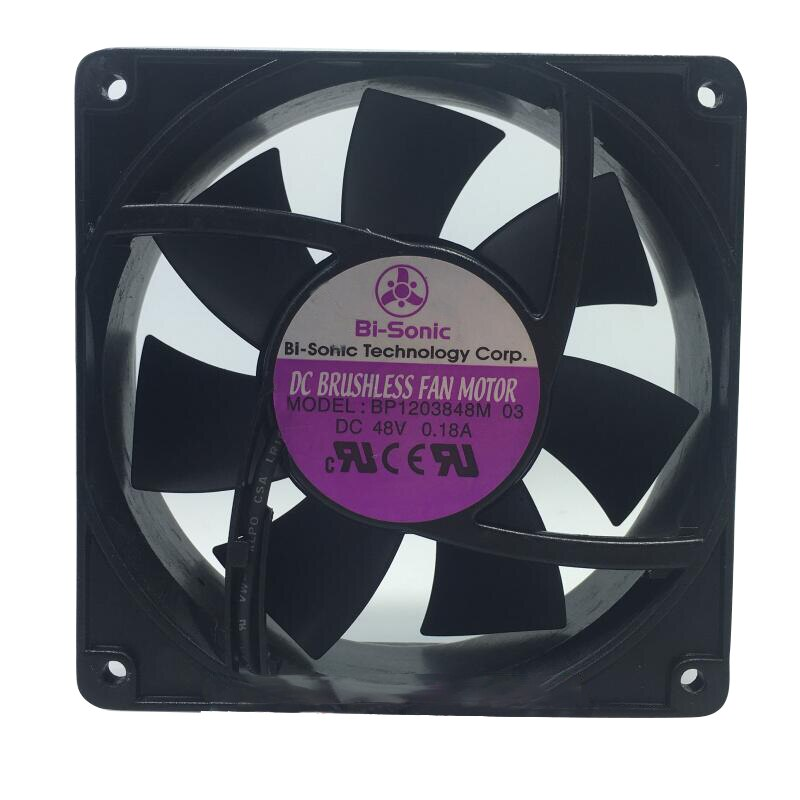Bi-sonic BP1203848M-03 DC48V axial flow cooling fan