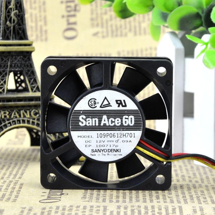 Sanyo 109p0612h701 12v 0.09A mute chassis ball bearing fan