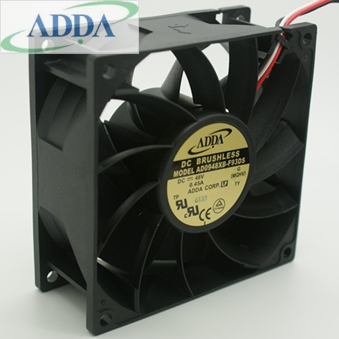 ADDA AD0948XB-F93DS 48V 0.45A dual ball bearing cooling fan