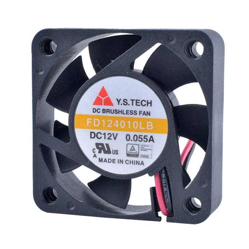 Y.S.TECH FD124010LB 12V 0.055A Double ball bearing cooling fan