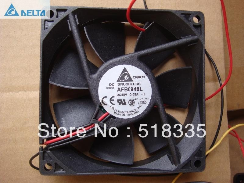 Delta AFB0948L DC 48V 0.08A 9CM  2Wire server cooling fan