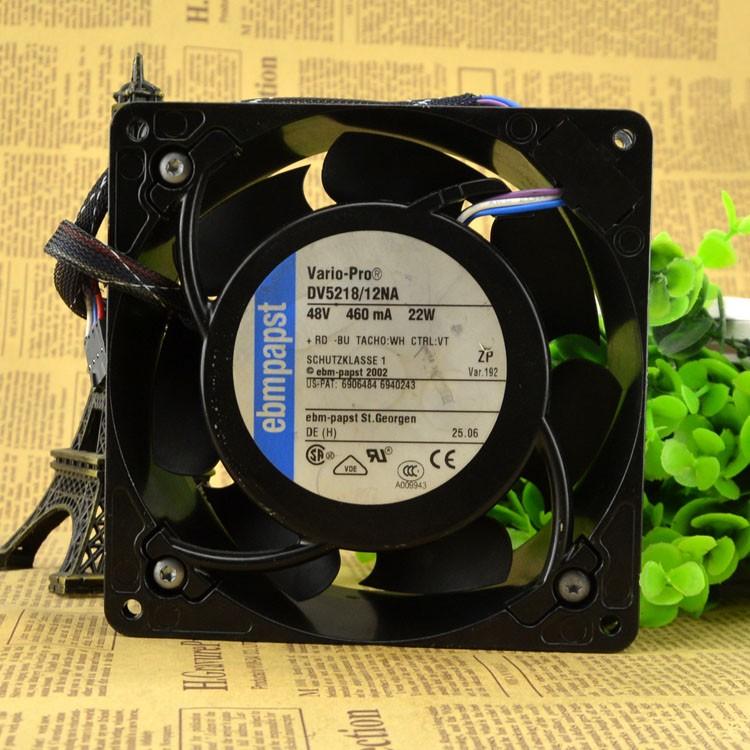 DV5218/12NA ebmpapst 48V 22W 0.46A 13CM 12738 12.7cm cooling fan