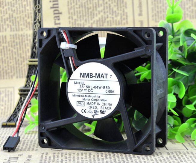 NMB 3615KL-04W-B59 12V 0.60A three line need large amount of wind fan