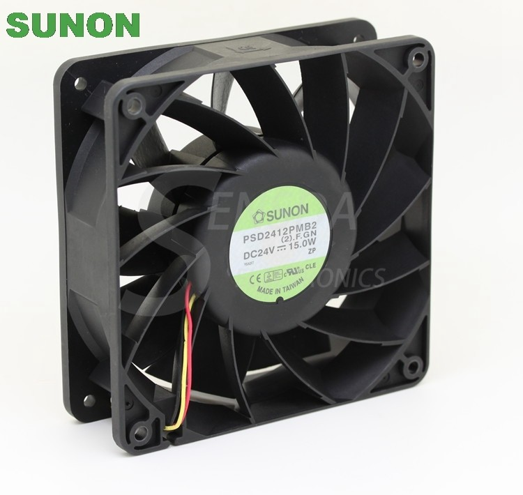 SUNON PSD2412PMB2 24V 15.0W  120x120x38mm  axial Cooling Fan