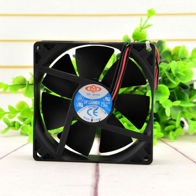 TOP MOTOR DF19BA DC12V 0.25A double ball cooling fan