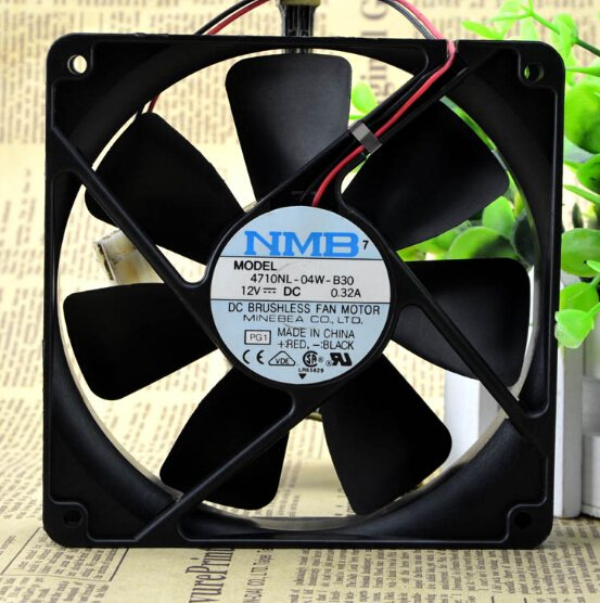 NMB 4710NL-04W-B30 12V 0.36A  2wire double ball fan