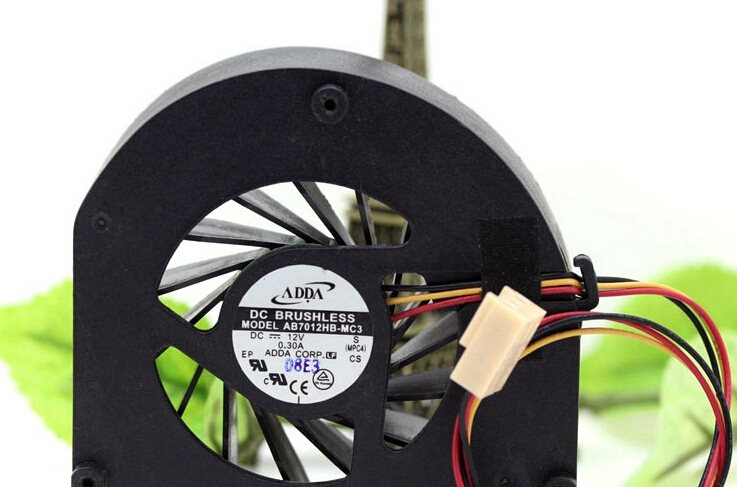 ADDA  AB7012HB-MC3 7CM 12V 0.30A dual ball turbo fan