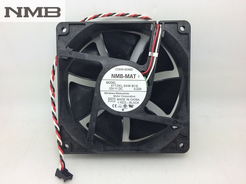 NMB 4712KL-04W-B19 12CM ultra-durable double ball bearing fan