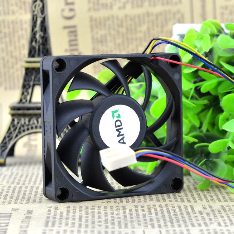 AVC DE07015B12L  four-pin 7CM AMD intelligent speed fan