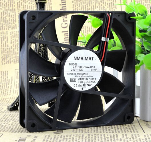 NMB-MAT7 4710KL-05W-B10 12CM 24V 0.10A 2P converter cooling fan