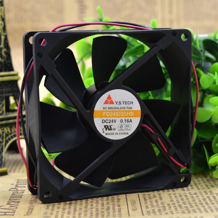 Y.S.TECH FD249225HB DC24V 0.16A 9CM inverter fan