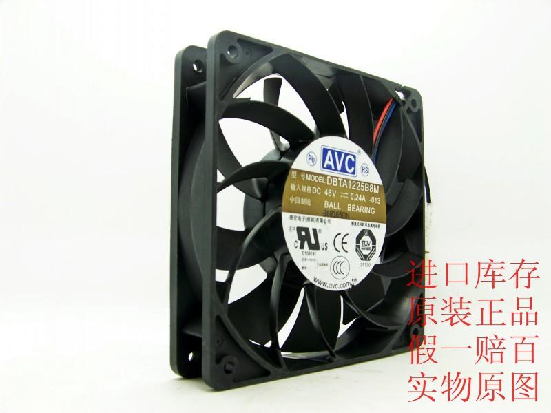 AVC DBTA1225B8M 48V 0.24A 12CM 12025 three line drive cooling fan