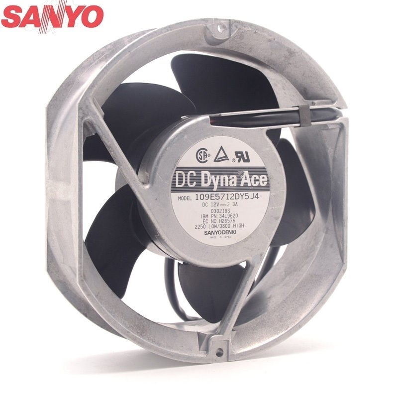 Sanyo 109E5712DY5J4 12V 2.3A metal frame Cooling fan