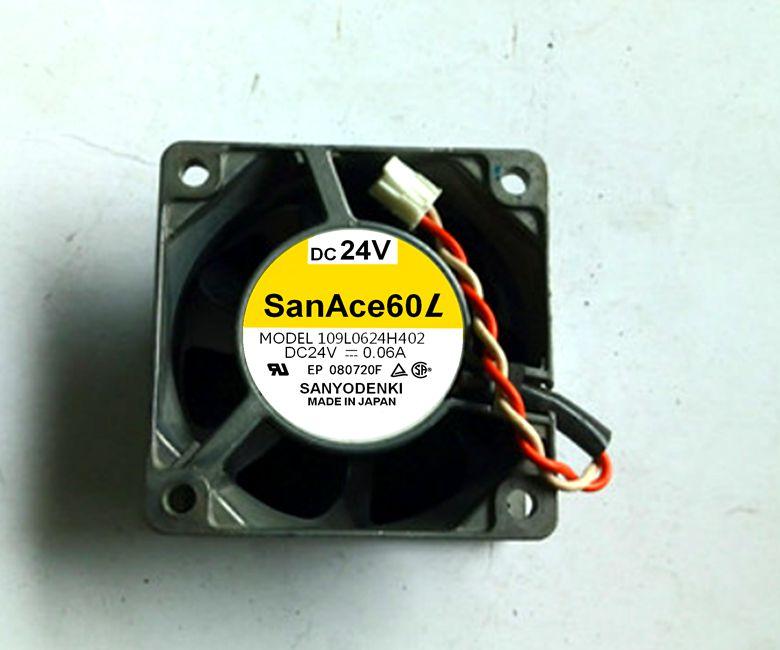 SANYO 109L0624H402 / S4D01 24V 0.06A / 0.08A  cooling fan…