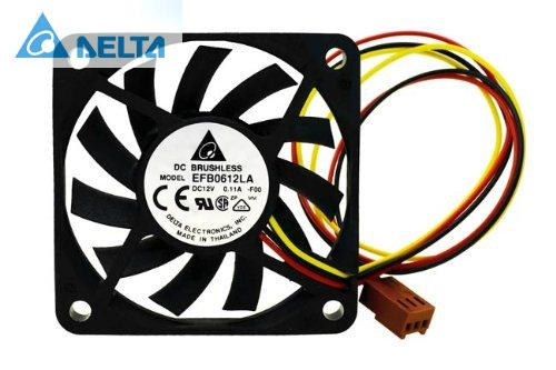 Delta EFB0612LA DC12V 13.5CFM 3Wire 60mm server inverter axial cooler cooling Fan