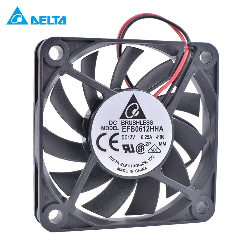 Delta EFB0612HHA 6cm 60mm 12V 0.25A Double ball bearing large air volume cooling fan