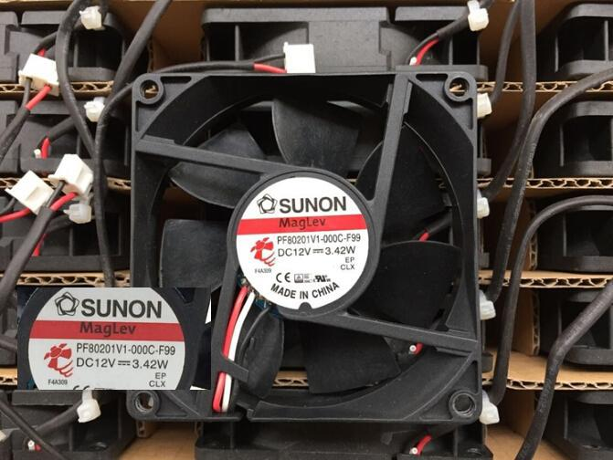 SUNON PF801V1-000C-F99 12V 3.42W  8cm 3 line with speed fan