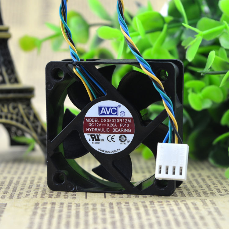 AVC DS05020R12M P010 12V 0.20A four-wire cooling fan