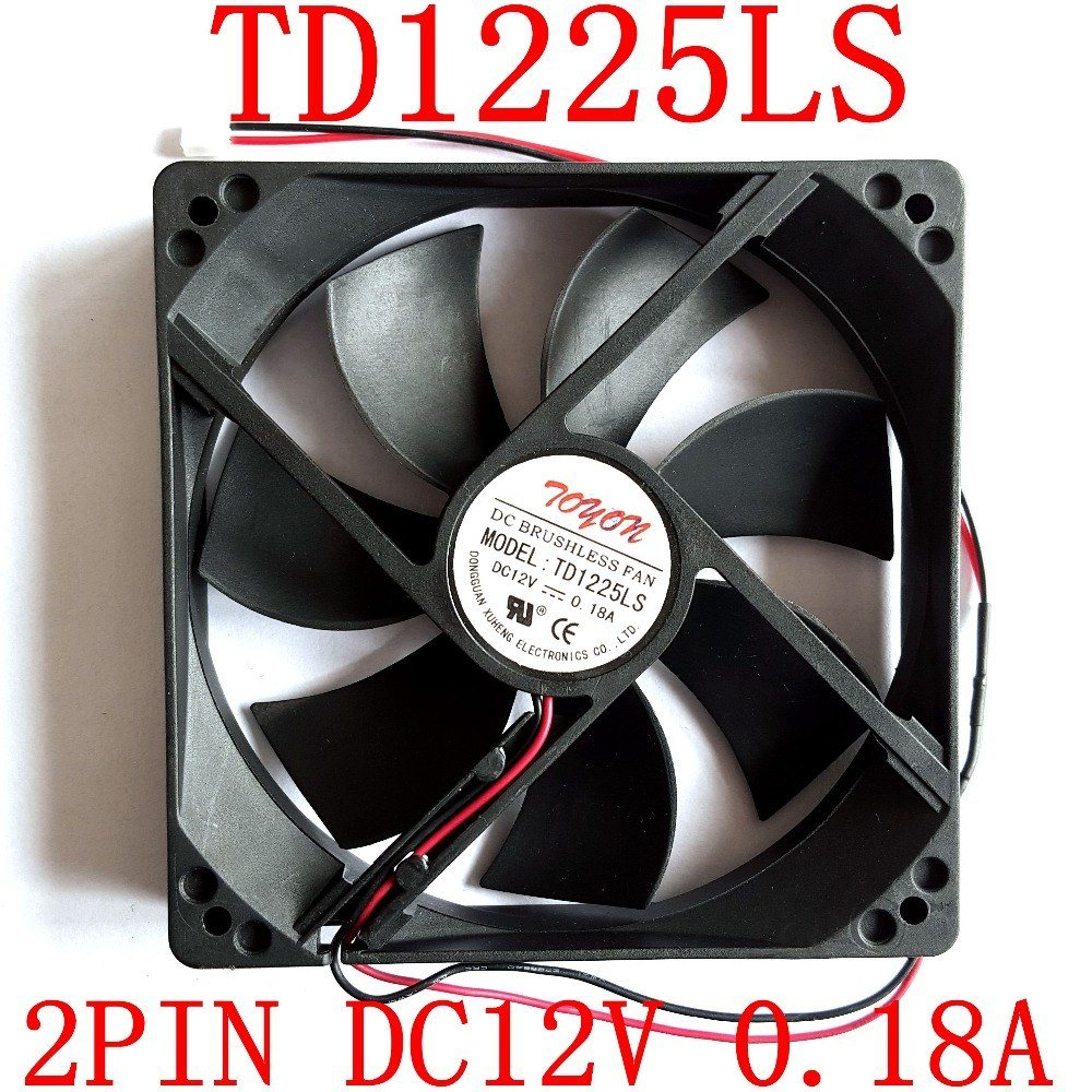 TOYON TD1225LS DC12V 0.18A 1x1x25mm cooling fan