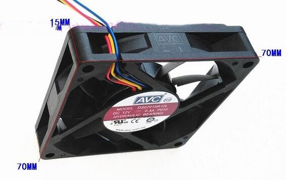 AVC DS07015R12L DC12V 0.30A 4-wire  CPU cooling fan