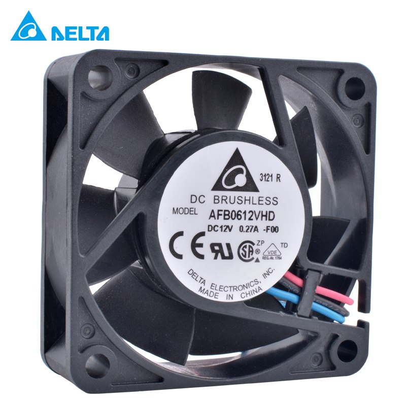 DELTA AFB0612VHD-F00 12V 0.27A speed monitoring double ball air volume cooling fan