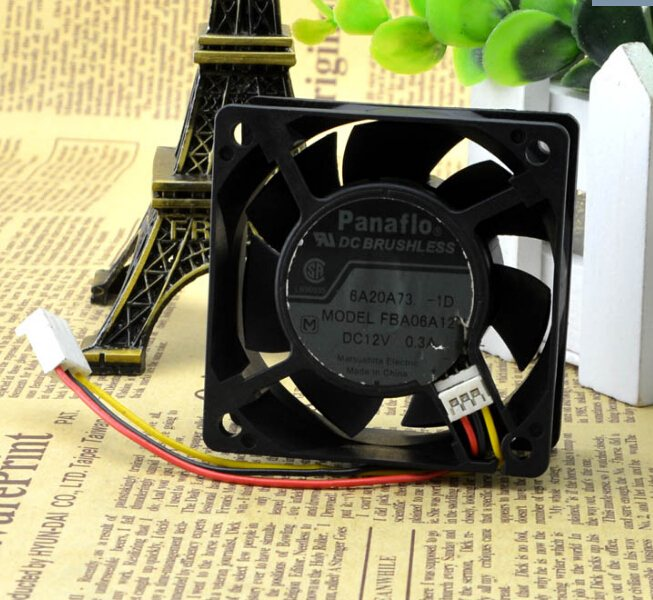 Panaflo FBA06A12V DC12V 0.30A 6CM 3-wire cooling fan