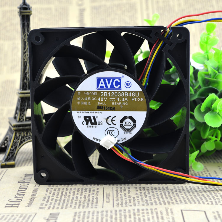 AVC 2B12038B48U DC48V 1.3A 12CM double ball bearing fan