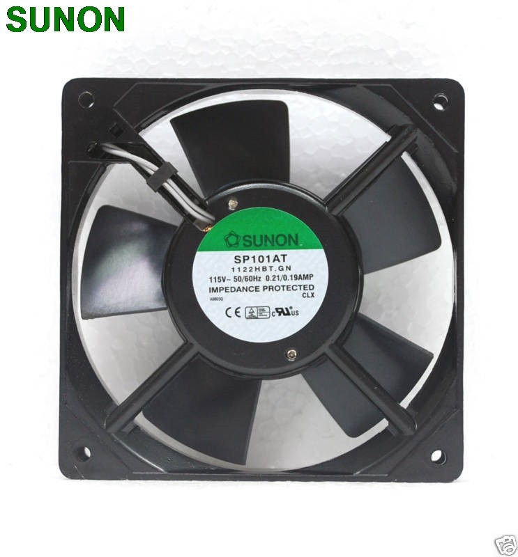Sunon SP101AT 1122HBT AC 120x120x25mm 115VAC  0.2A cooling fan Axial Fan