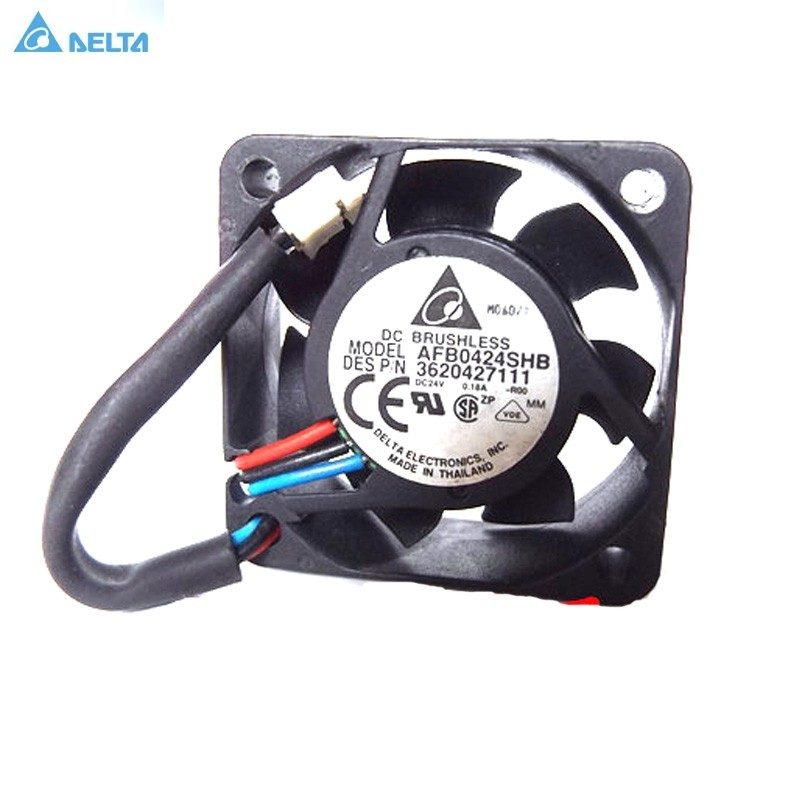Delta AFB0424SHB DC24V 0.18A 3-Pin axial Cooling Fan
