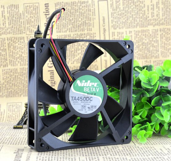 NIDEC A34346-33 120*120*25 G1 12V 0.33A Server three lines radiating fan