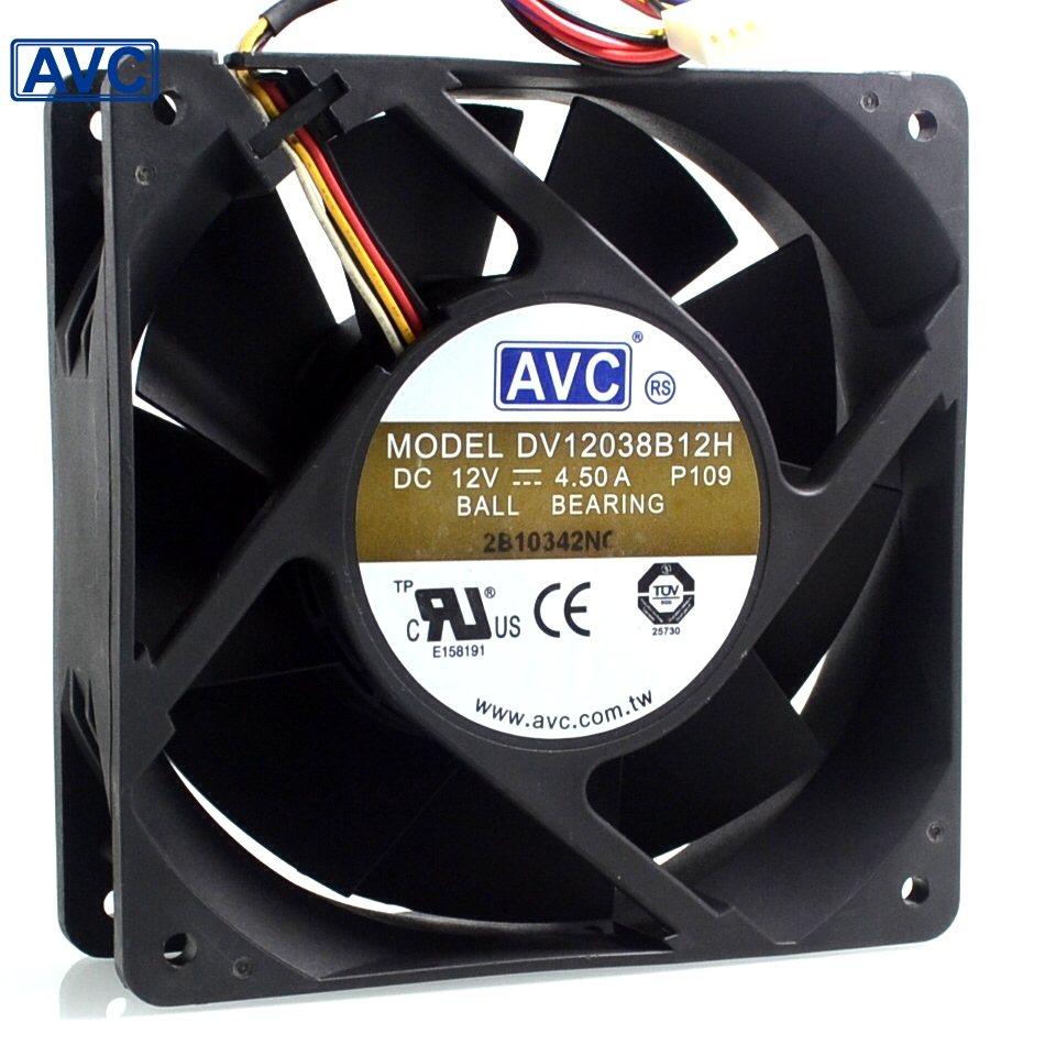AVC DV138B12H 12V 4.5A 12CM cooling fan