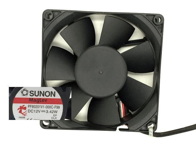 SUNON PF801V1-000C-F99 12V 3.42W  8cm 3 line with speed fan