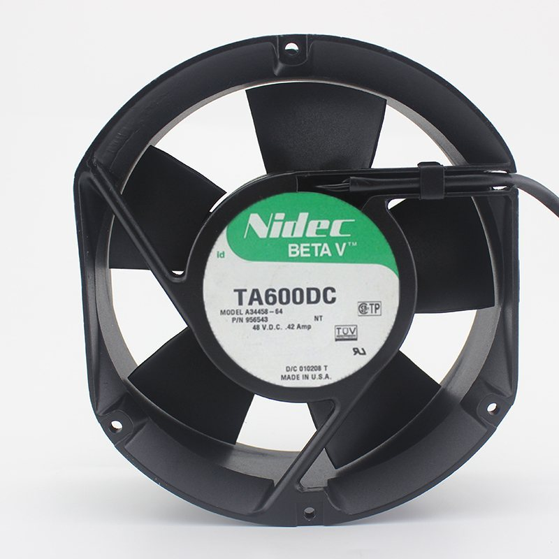 Nidec TA600DC A34458-64 DC48V 0.42A axial server cooling fan