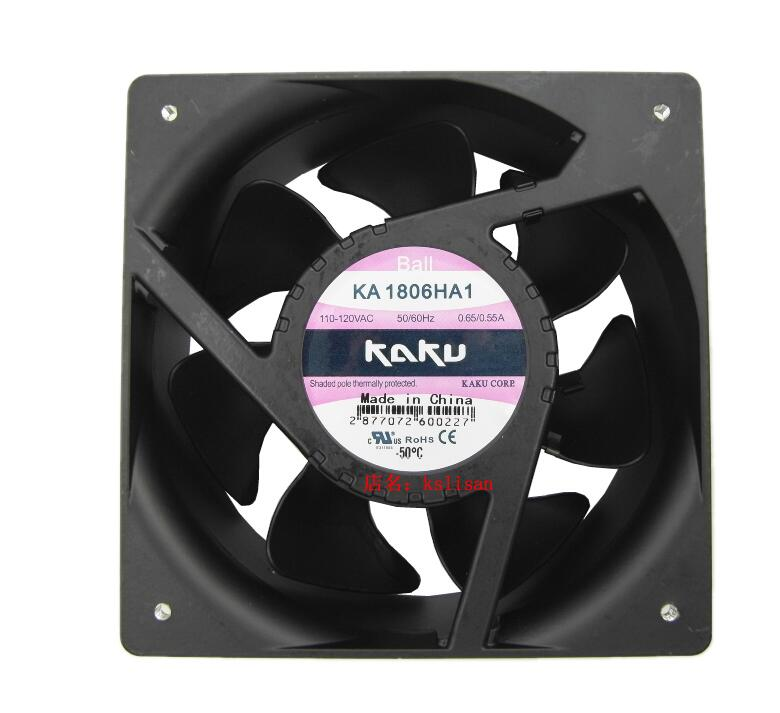 KAKU KA1806HA1 AC 110V 120V 0.65A 0.55A 180X180X65mm Server Square Fan