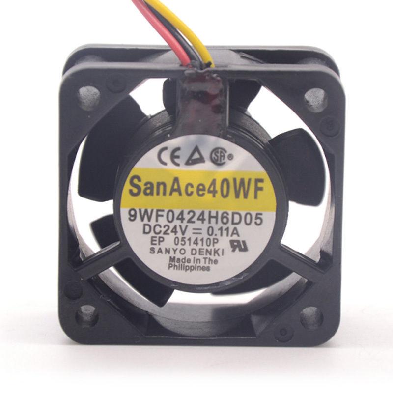 Sanyo 9WF0424H6D05 DC24V 0.11A 3-P axial cooling fan