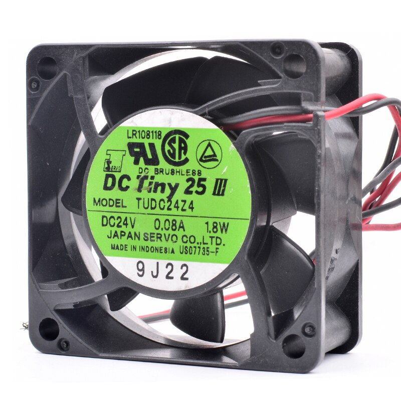 SERVO TUDC24Z4 DC24V 1.8W 60x60x25mm inverter silent cooling fan
