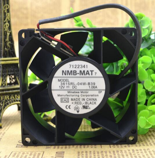 NMB 3615RL-04W-B39 12V 1.06A 92*92*38MM three line axial flow fan