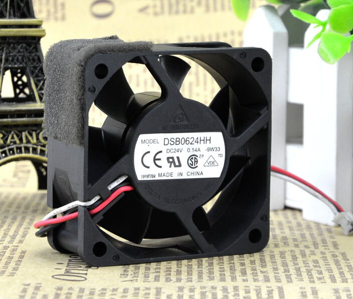 Delta DSB0624HH 24V 0.14A ultra quiet inverter industrial cooling fan