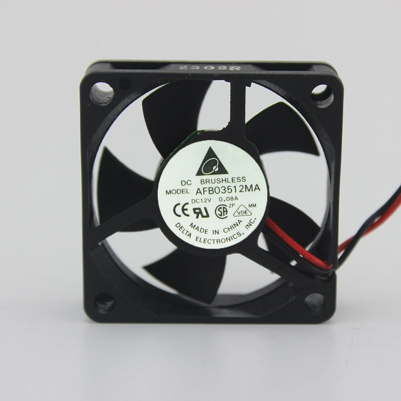 Delta AFB03512MA 35x35x10mm  DC12V 0.08A Ball Bearing Axial Cooling Fan
