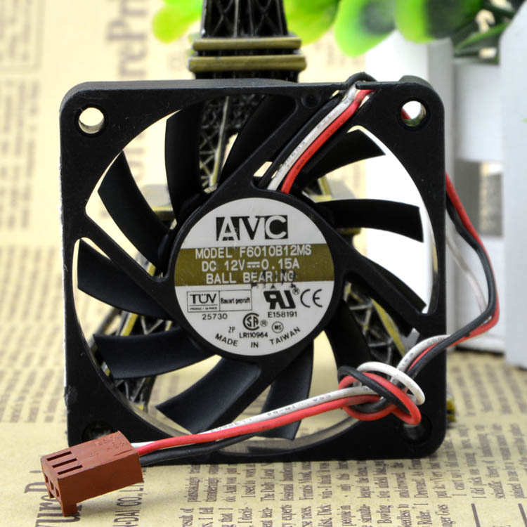 AVC F6010B12MS  60X60X10mm DC 12V 0.15A Dual Ball Bearing cooling fan