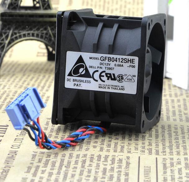 Delta GFB0412SHE DC12V 0.68A PE1750 P1185 T3907 8X771 Server Cooling Fan