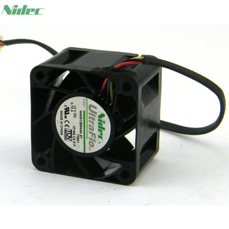 NIDEC W40S12BS4A5-07  40mm 12V 0.73A Server Inverter Cooling Fan