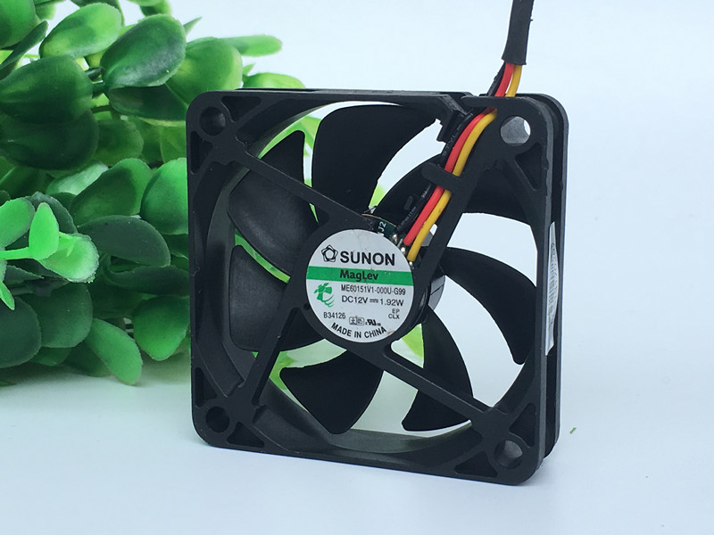 SUNON ME60151V1-000U-G99 6CM 12V 1.92W 3-wire cooling fan