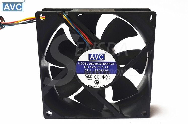 AVC DS08025T12UPFAF 80mm DC12V 0.7A PWM cooling fan